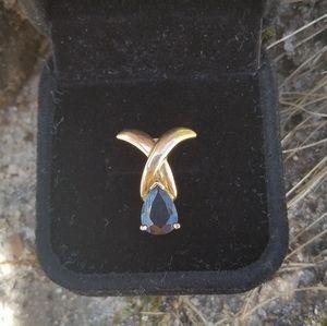 Jewelry - Sapphire & 14K Yellow Gold Pendant